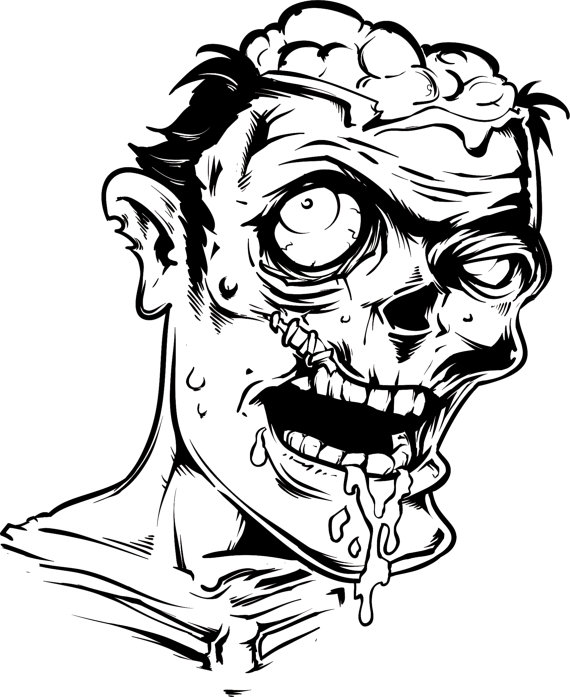 black and white zombie clipart 20 free Cliparts | Download ...