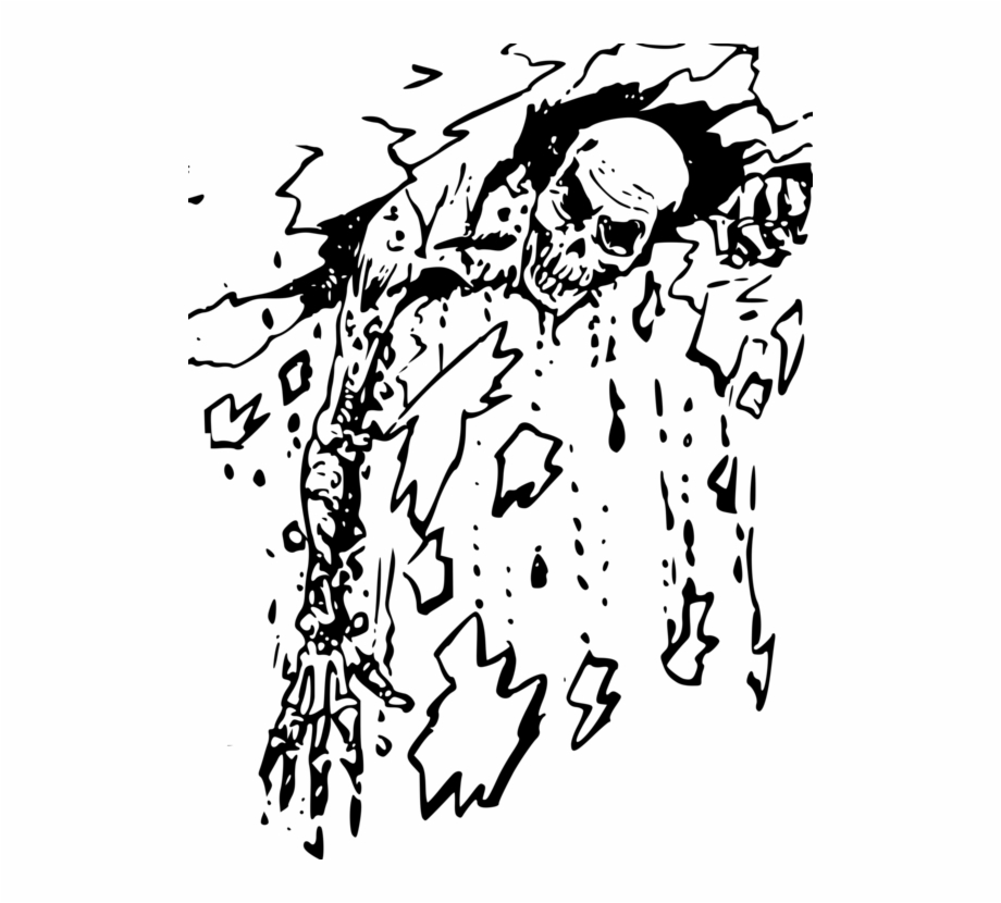 Zombie Black And White Drawing Visual Arts Horror Free.