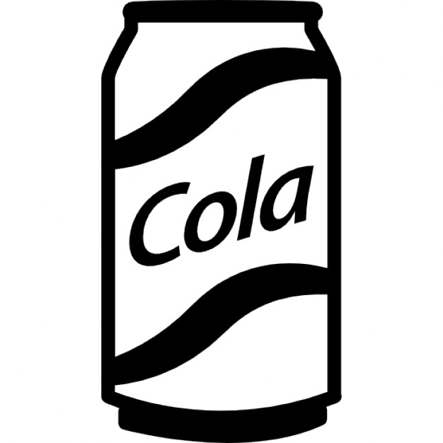 Soda Can Clipart Black And White.