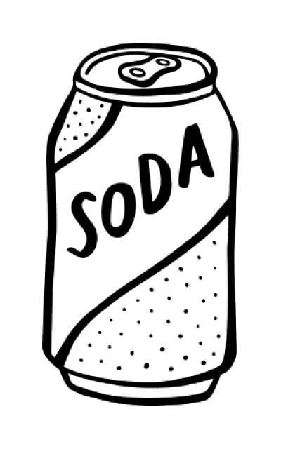 Can of soda clipart black and white clipart images gallery.