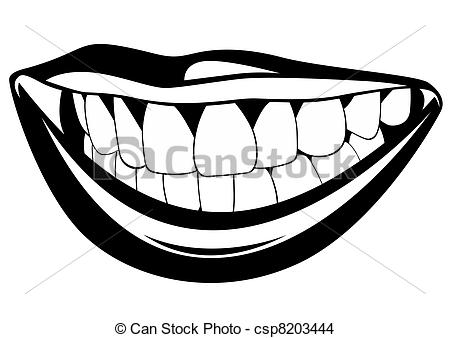 Tooth clipart black and white 1 » Clipart Station.