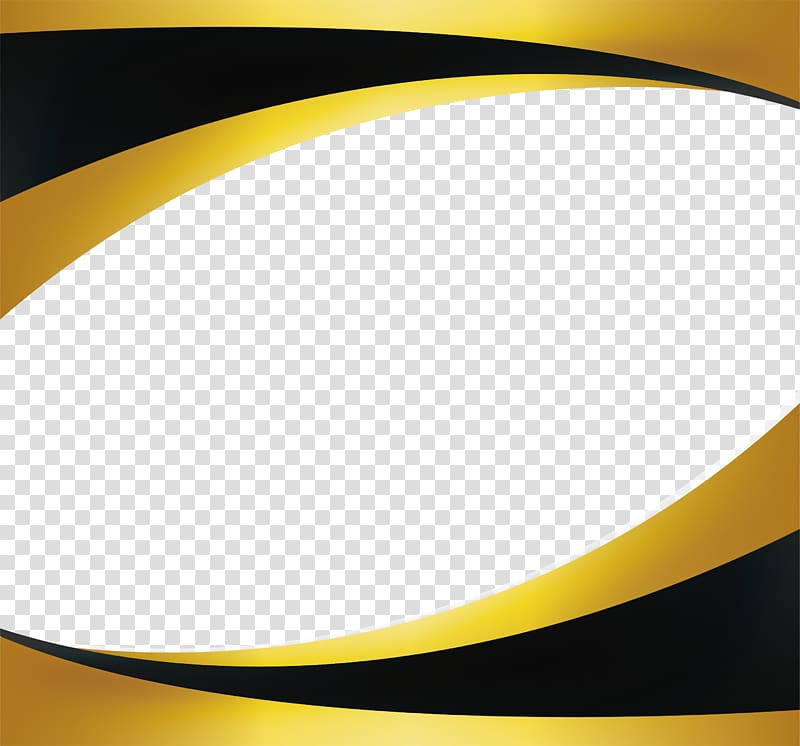 Gold , Black gold wave border, yellow and black frame.
