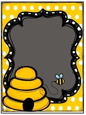 Black and yellow bee frame ….