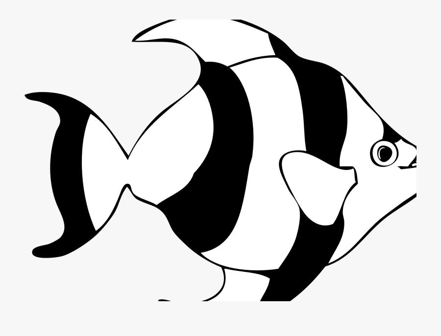 Cartoon Yellow And Black Fish , Free Transparent Clipart.