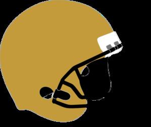 Gold Football Helmet Clipart.