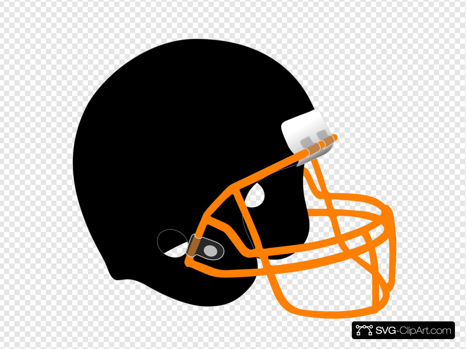 Yellow Grill Football Helmet Clip art, Icon and SVG.