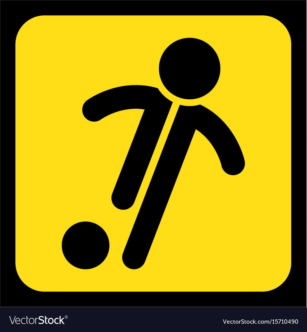 Yellow black sign.