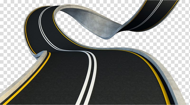 Black road with white and yellow lines, Road Highway.