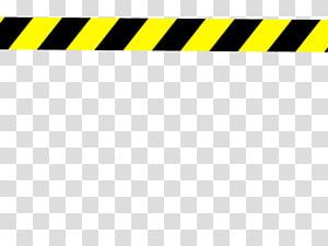 Black and yellow warning line art, Barricade tape , police.