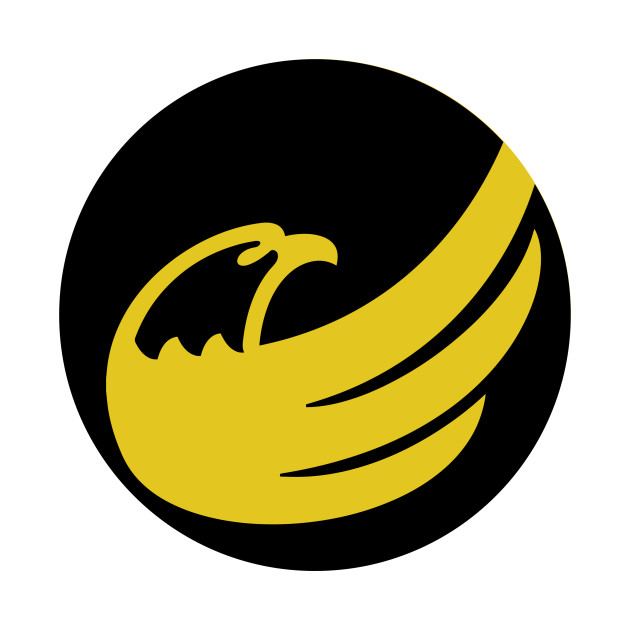 LIMITED EDITION. Exclusive Logo Circle: Libertarian Eagle Remix Black On  Yellow.