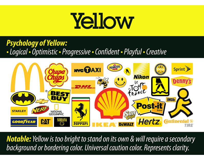 Black Yellow Brand Logo.