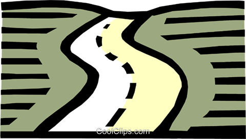 Roadways Royalty Free Vector Clip Art illustration.