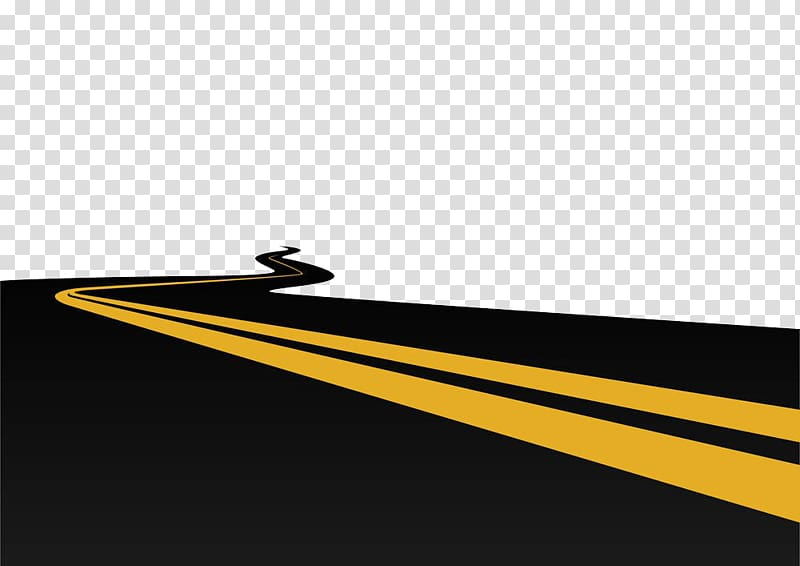 Brand Yellow , To extend the long black road transparent.