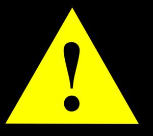 Black Yellow Black Warning 1 Clip Art at Clker.com.