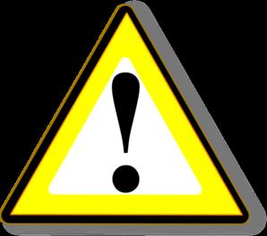 Black Yellow Warning Clip Art at Clker.com.
