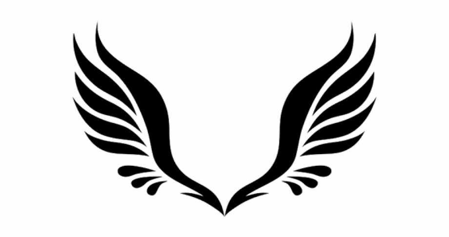 Library of black wings transparent library png files.