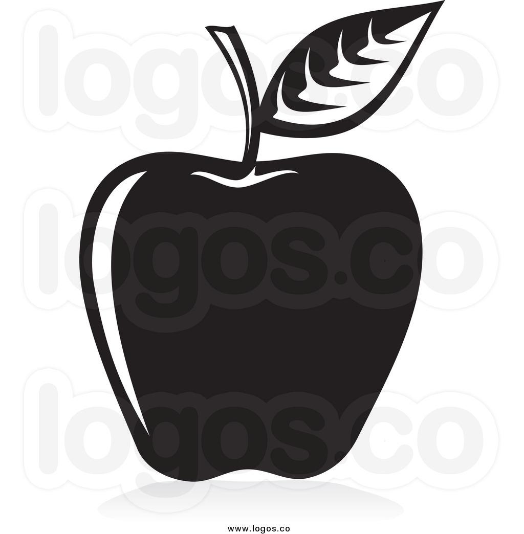 Apple Clip Art Black And White.