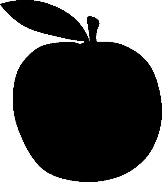 Black Apple Clip Art at Clker.com.