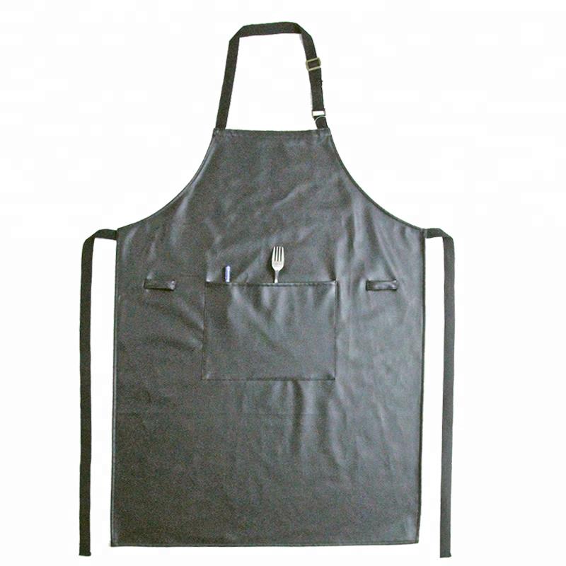 Waterproof Butcher Apron,Black Leather Apron,High Quality Apron.