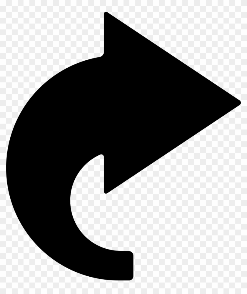 Curved Right Black Arrow Comments.