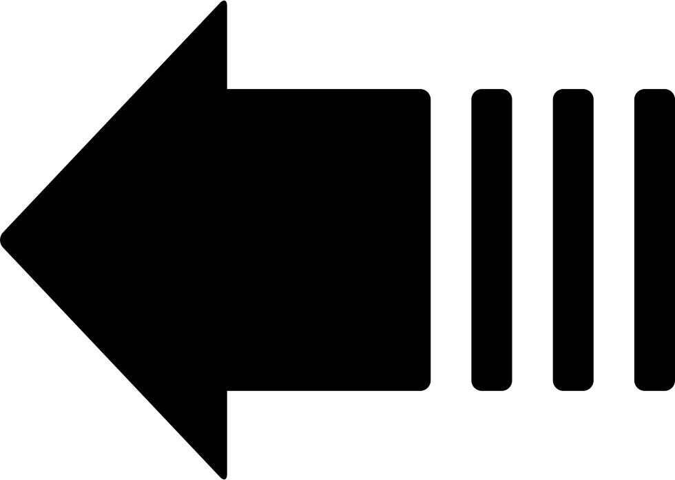 HD Left Arrow Variant Svg Transparent PNG Image Download.
