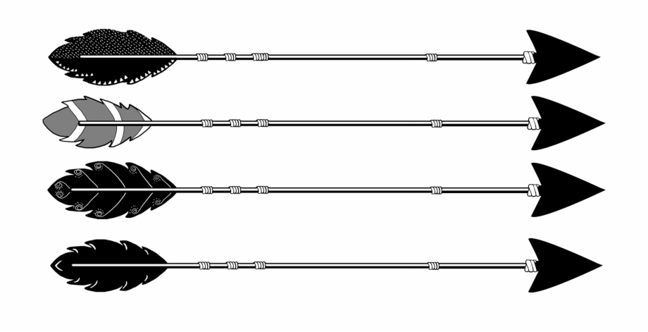Tribal Black Arrows Different Types.