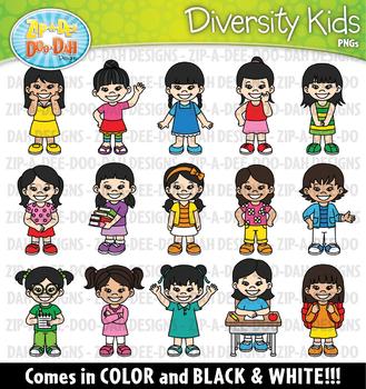 Asian Kids Clipart Set {Zip.
