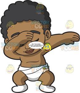 A Dabbing Black Baby Boy.