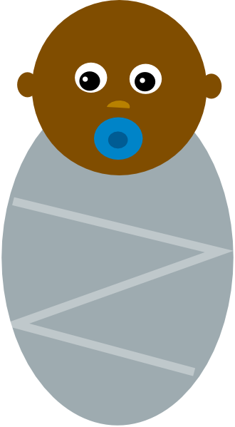76+ Black Baby Clipart.