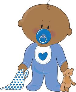 Baby Boy With Teddy.