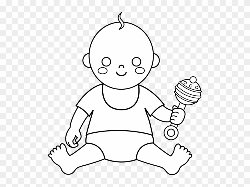 Colorable Baby Design.