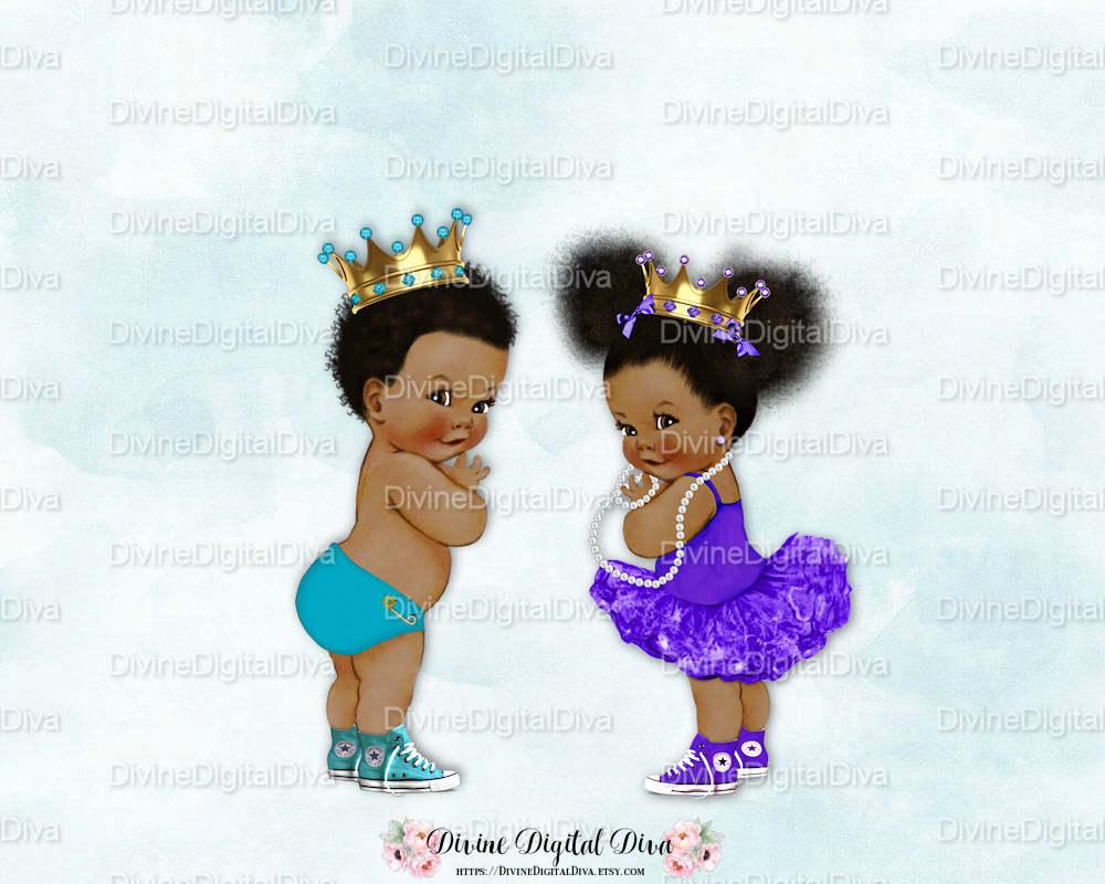 Prince Princess Baby Boy & Ballerina Girl.