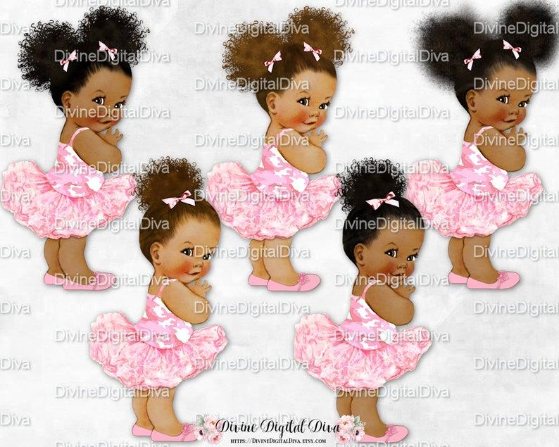 Princess Ballerina Pink Camo Shirt Tutu & Shoes.