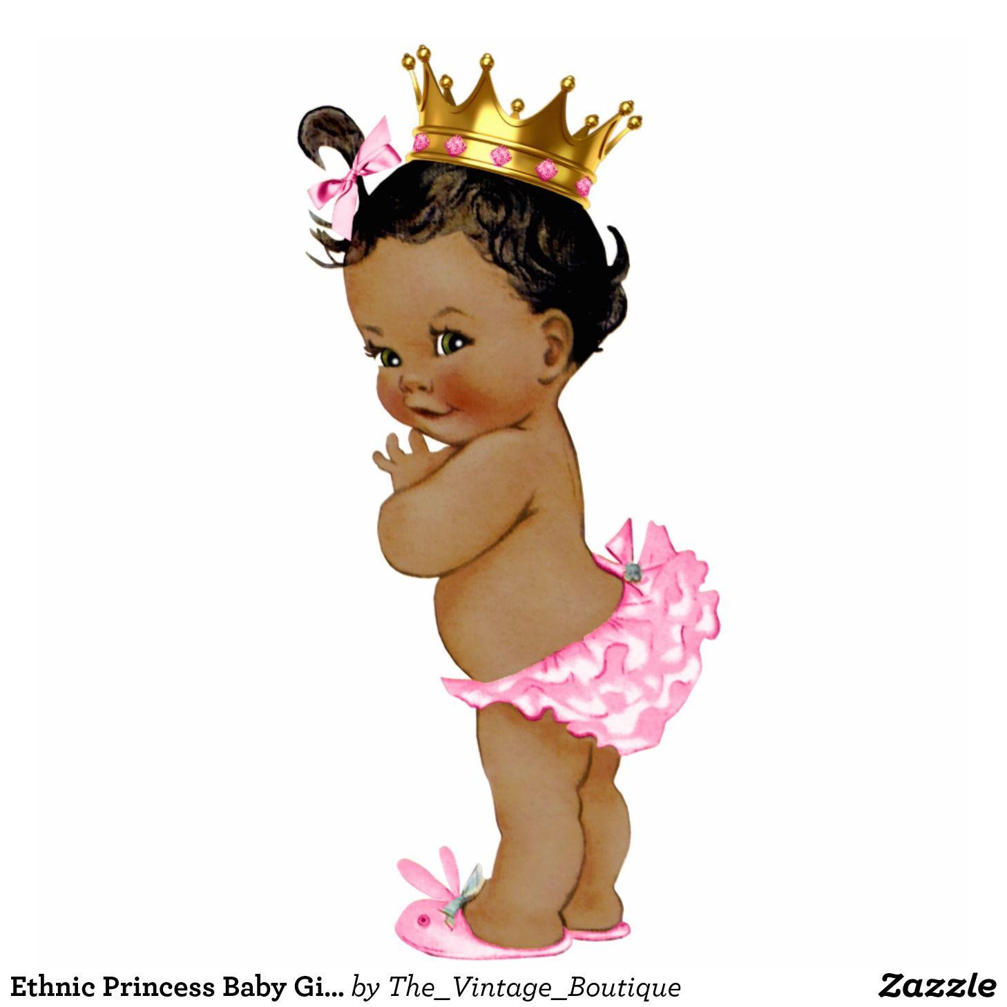 Ethnic Princess Baby Girl Shower Statuette.