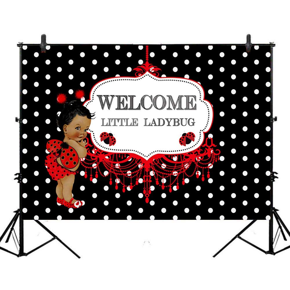 Amazon.com : Mocsicka Ladybug Backdrop Ladybird Baby Shower.