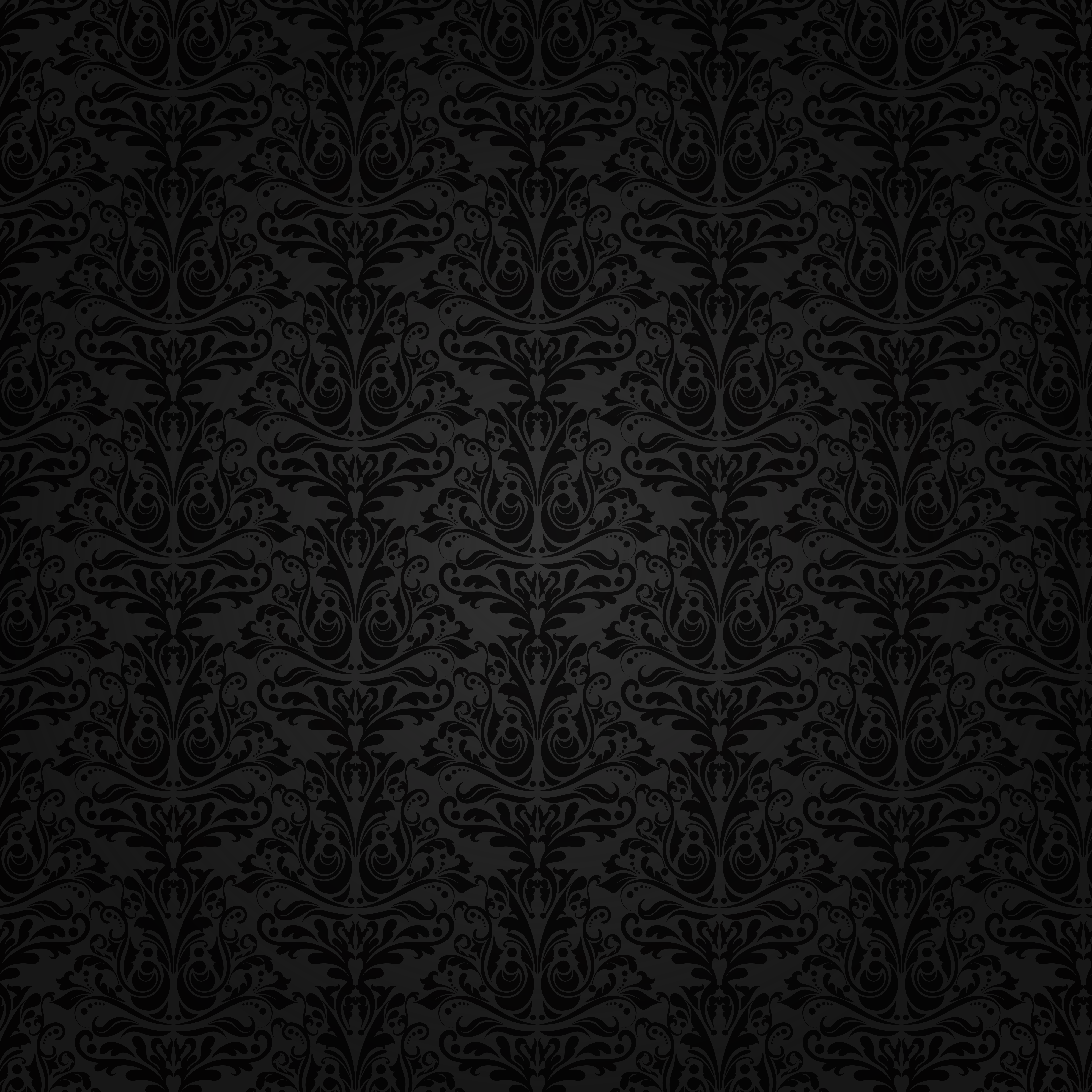 Black Background with Ornaments.