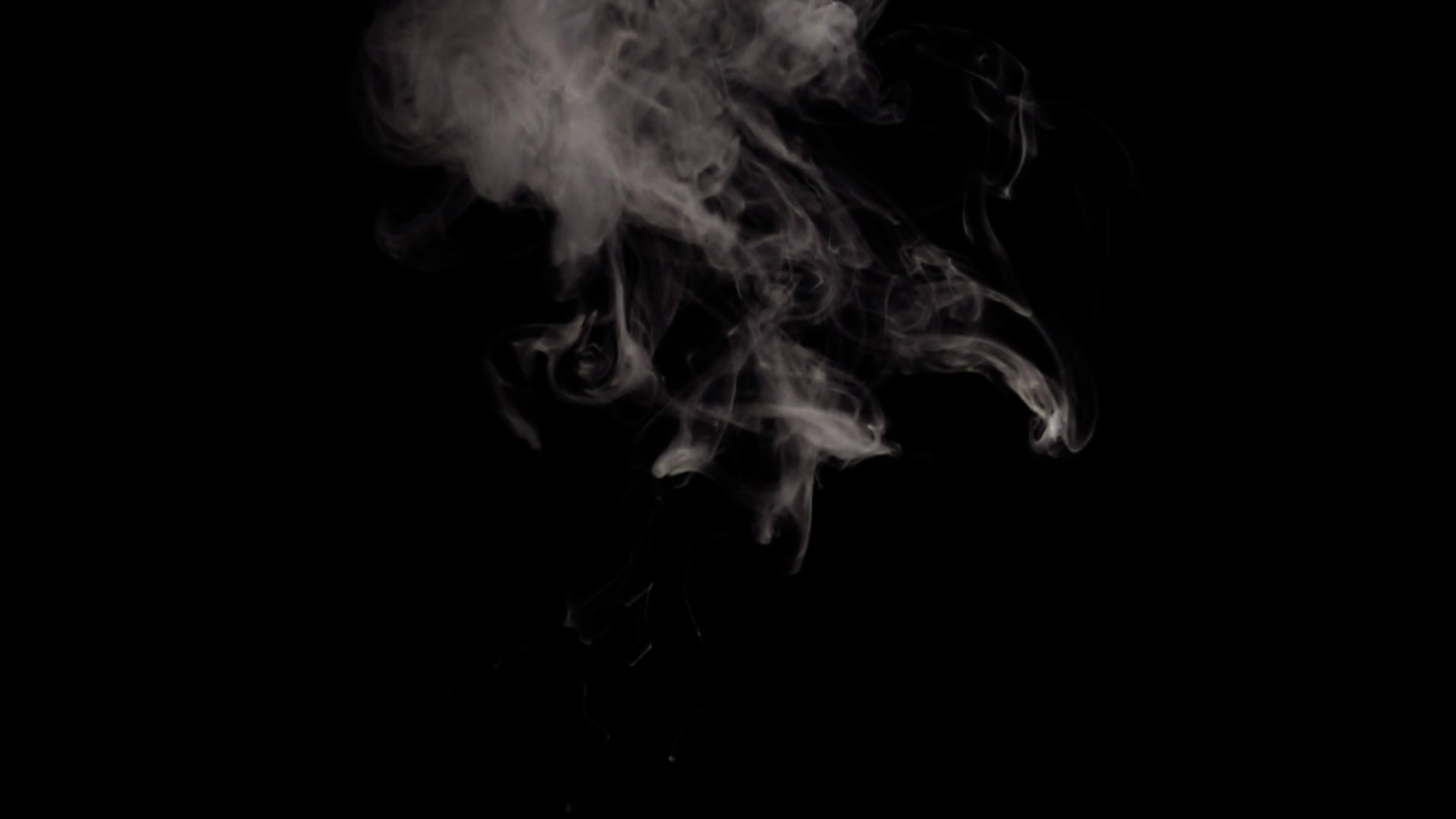 Alpha Channel, Png, White Smoke On Black Background Stock Video Footage.