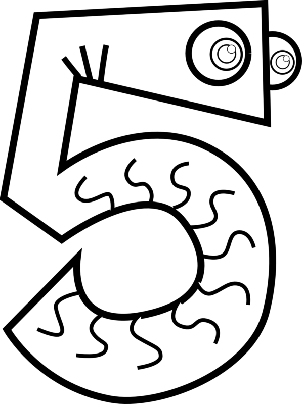 Numbers clipart black and white, Numbers black and white.