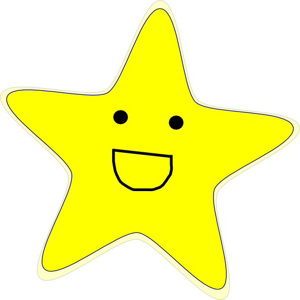 Shooting Star Clipart Happy Star.