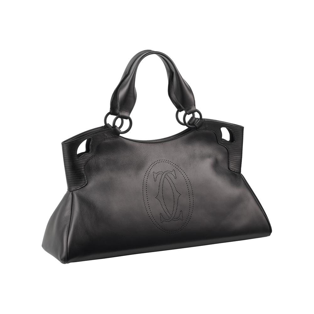 Cartier Black Women Bag PNG Image.