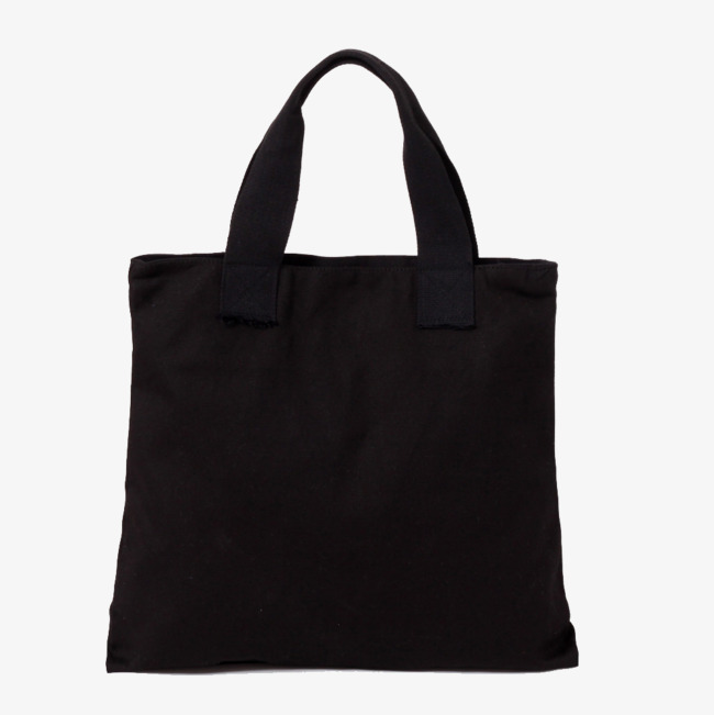 Pure Black Canvas Bag, Bag Clipart, Product Kind, Baby PNG.
