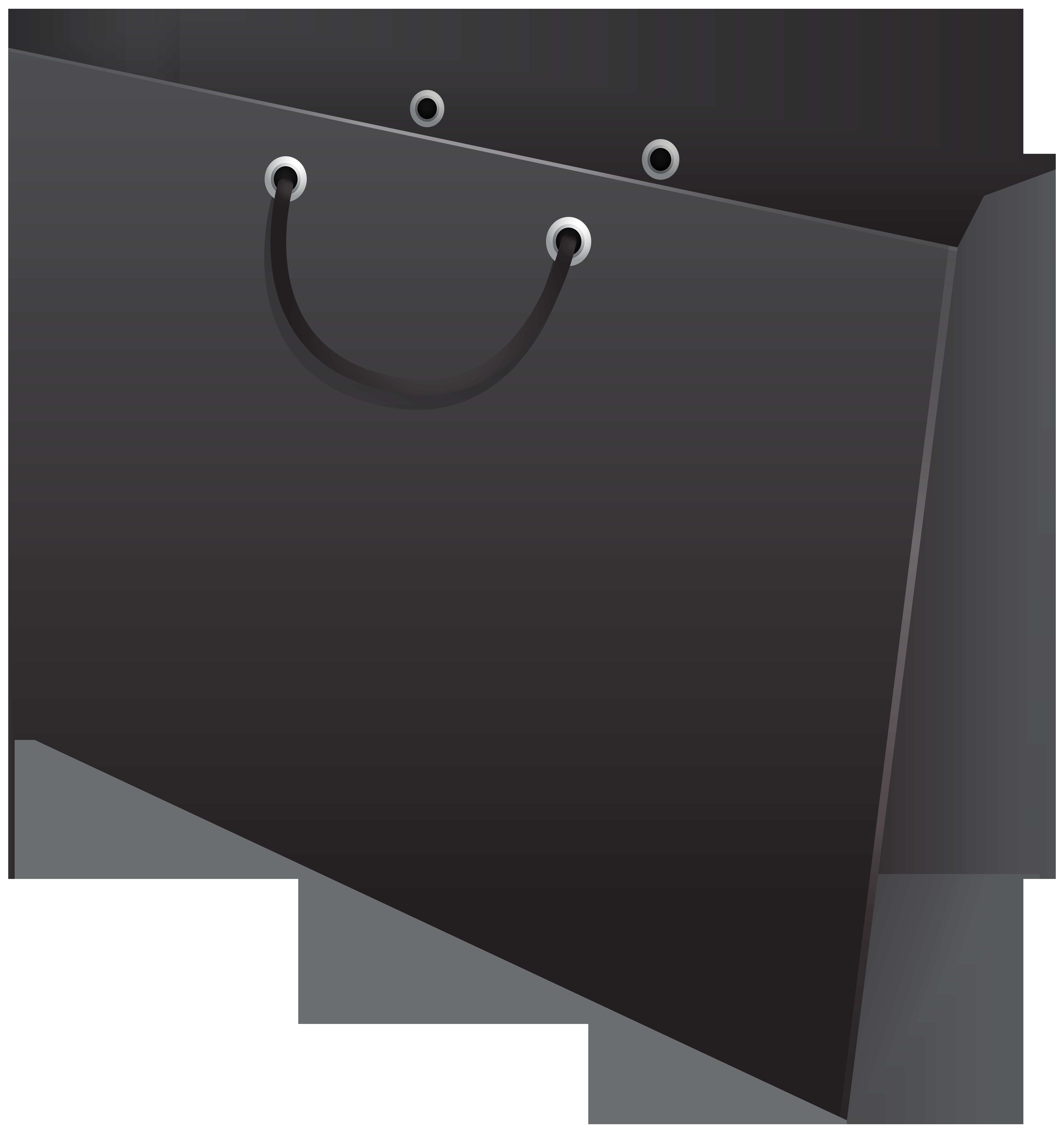 Black Gift Bag PNG Clip Art.