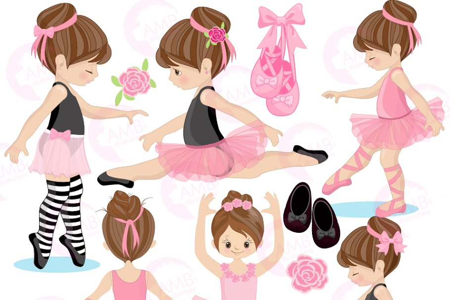 Ballerina Clipart, Ballet, AMB.