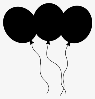 Free Balloon Black And White Clip Art with No Background.
