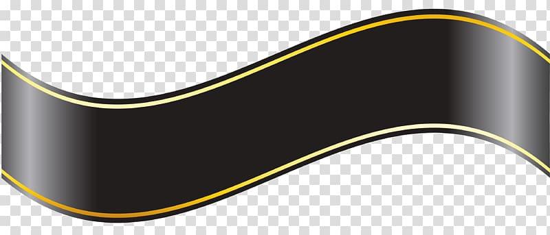 Brand Pattern, Black Banner , black ribbon transparent background.