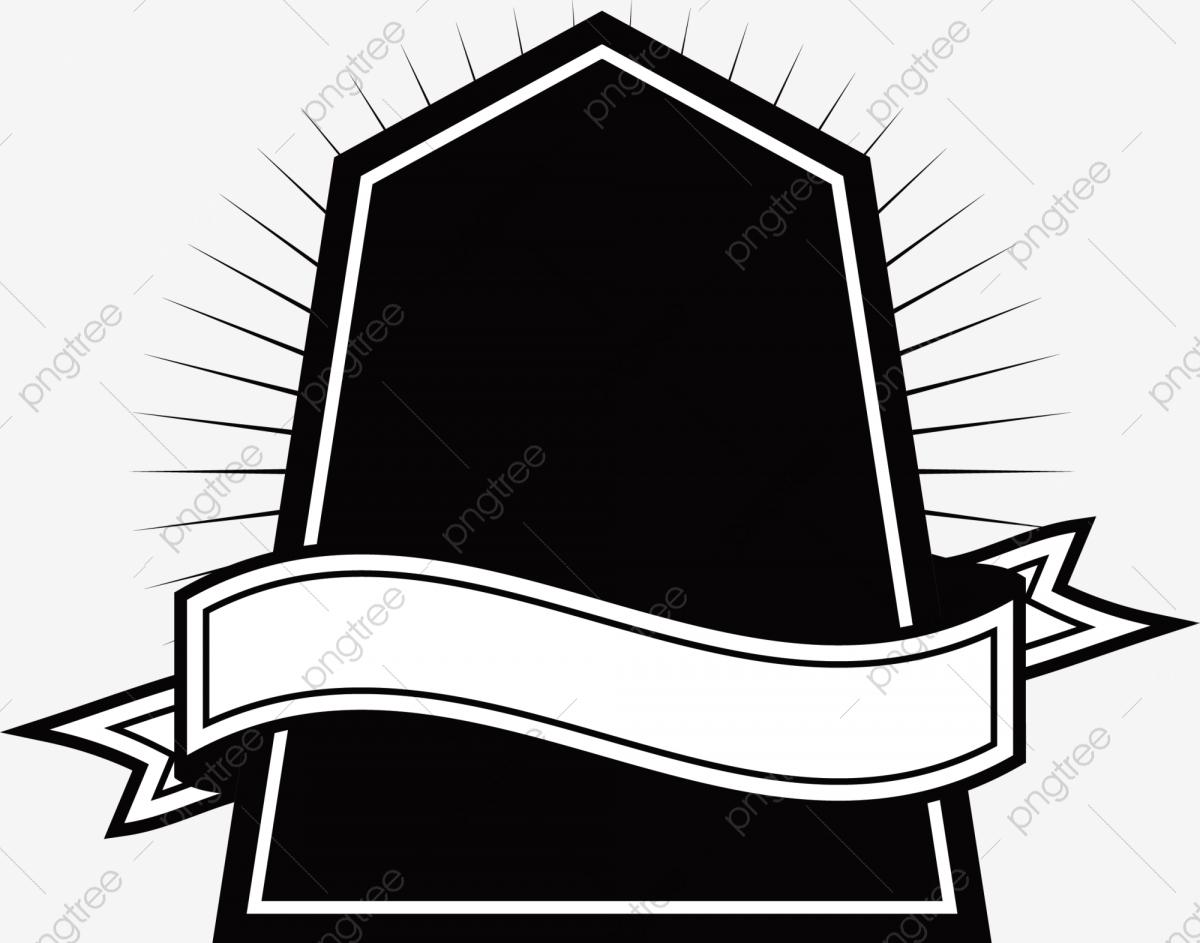 Black Banner Badge, Banner Clipart, Black, Banner PNG Transparent.