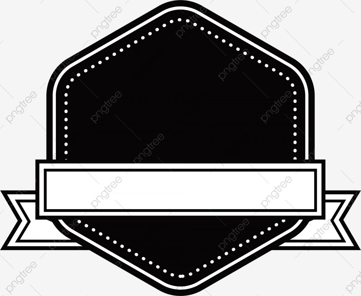 Black Banner Pattern, Banner Clipart, Black, Banner PNG Transparent.