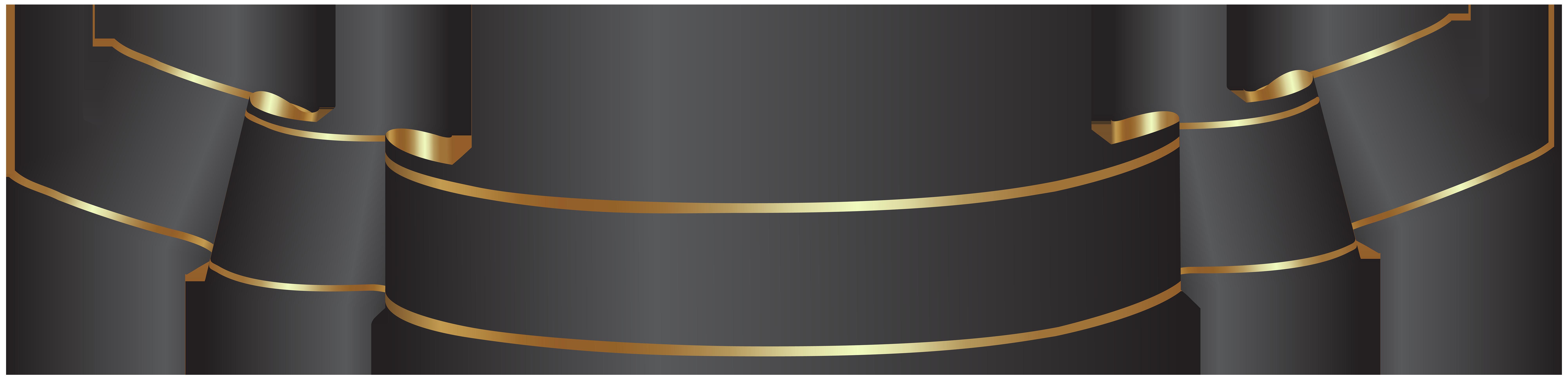 Black Banner Transparent PNG Clip Art.