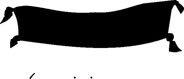 Black Banner Clipart.