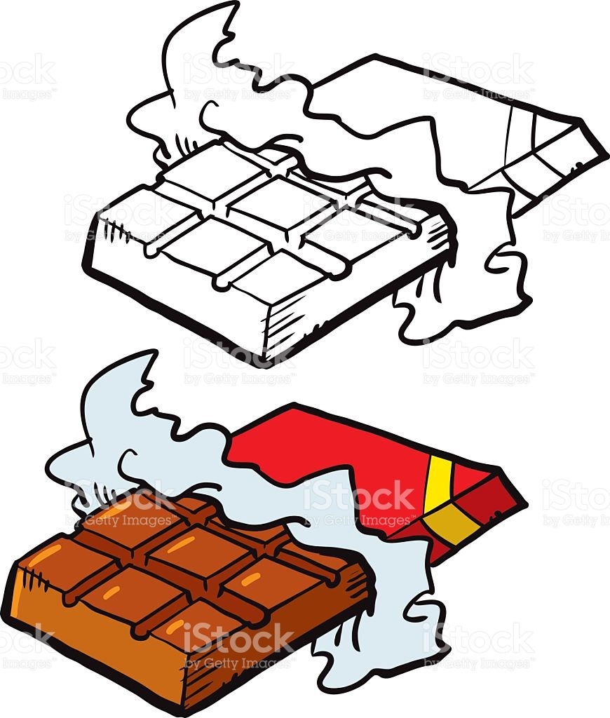 Black And White Candy Bar Clipart.